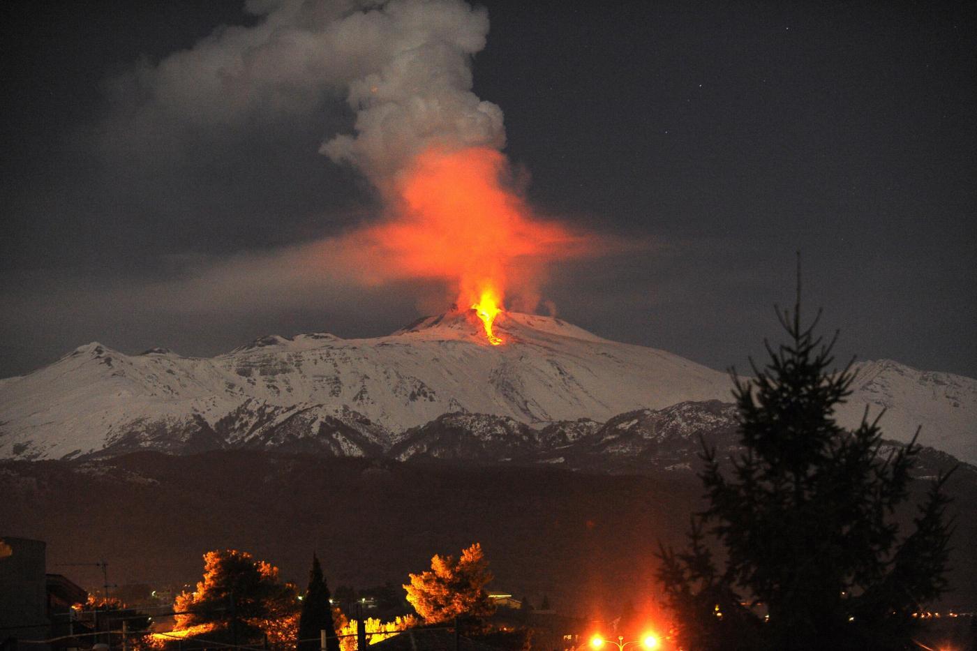 Etna, nuova eruzione dal cratere di Sud/Est$