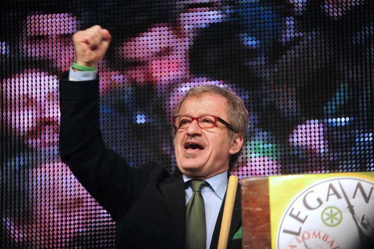 """Manifestazione """"Orgoglio leghista"""" alla Fiera di Bergamo"""