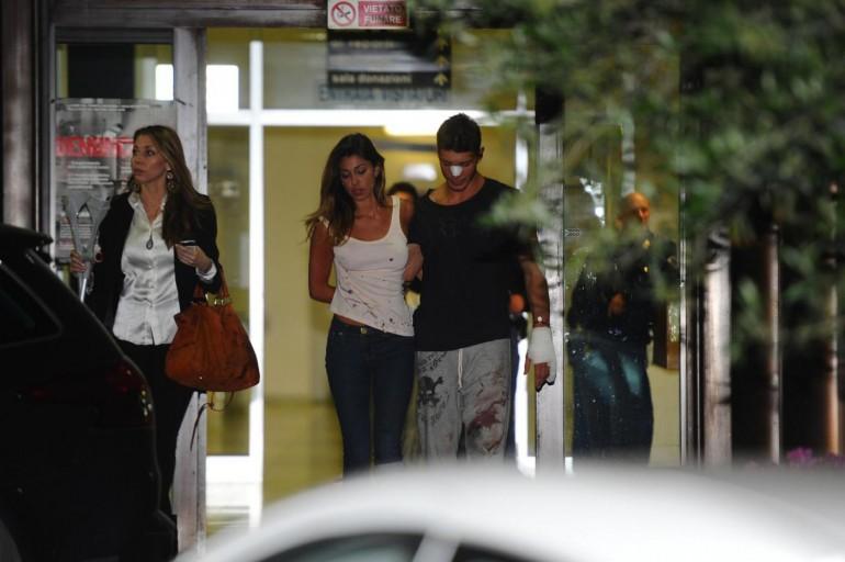 Incidente in moto per Belen Rodriguez e Stefano De Martino