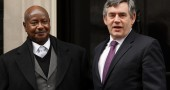 Gordon Brown Meets Prime Minister Musaveni Of Uganda