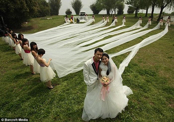 Il velo da sposa più lungo del mondo