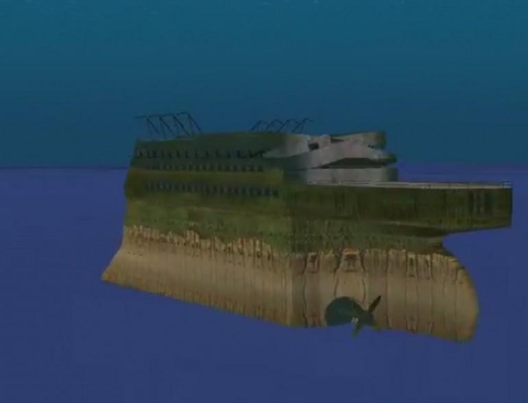 titanic google earth mega800