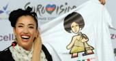 Italy?s Eurovision entry Nina Zilli smil