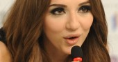 Azerbaijan?s singer Sabina Babayeva spea