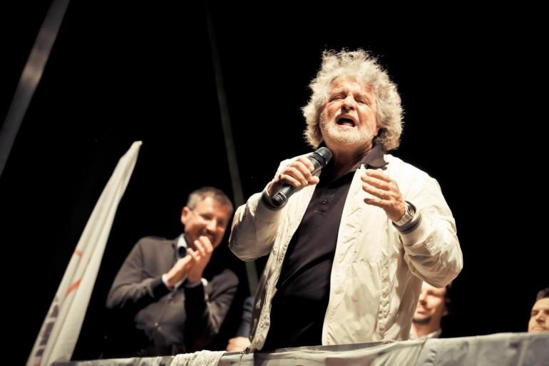 Beppe Grillo a Verona