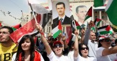 Supporters of President Bashar al-Assad