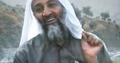 Osama bin Laden gesturing during an undated videotape broadcast