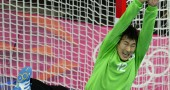 South Korea's goalkeeper Park Chanyoung