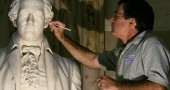 Workers Restore Capitol Building Artwork