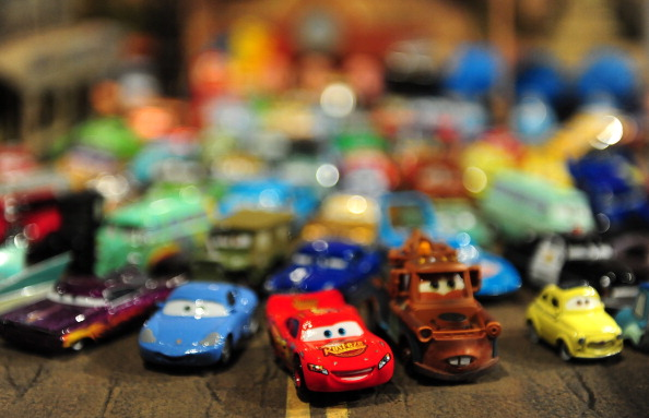 A collection of Mattel die-cast vehicles