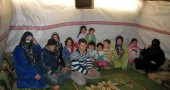Syrian refugees who fled the violence in