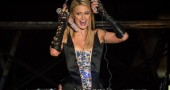 US socialite Paris Hilton performs as DJ