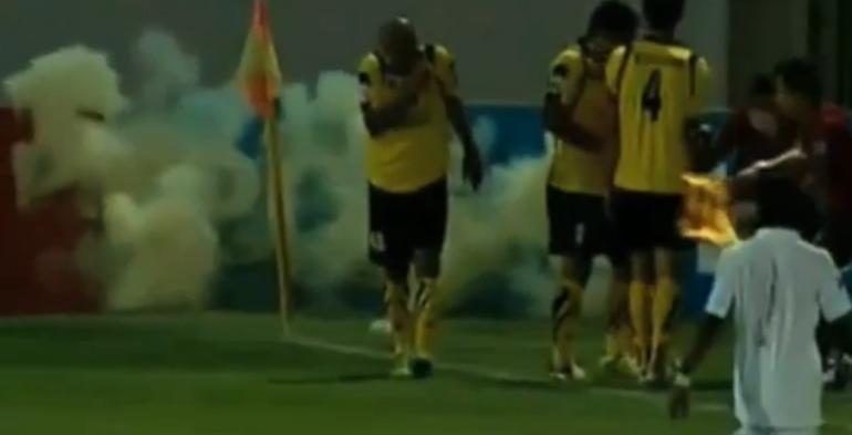 Il calciatore che fa esplodere una granata a sua insaputa