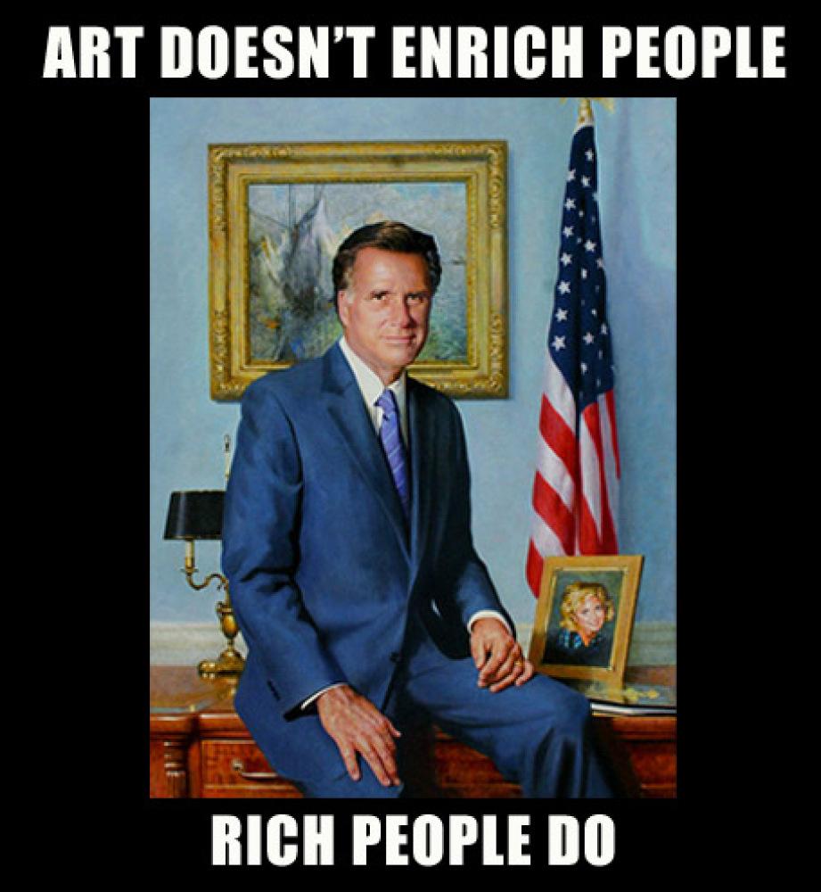 L'arte non arricchisce le persone, lo fanno i ricchi