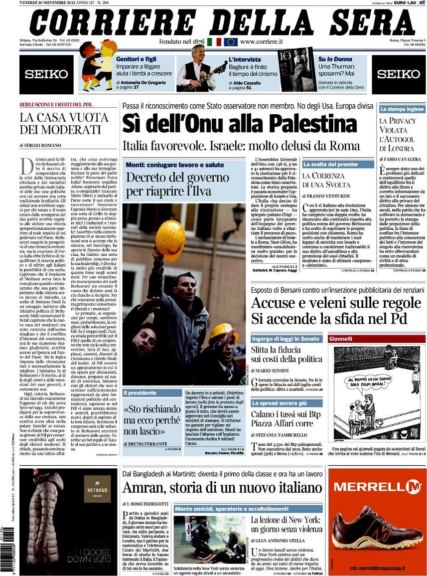 Il corriere della sera giornalettismo for Corriere della sera arredamento