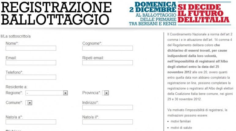 Domenicavoto.it, il sito dei renziani per le primarie