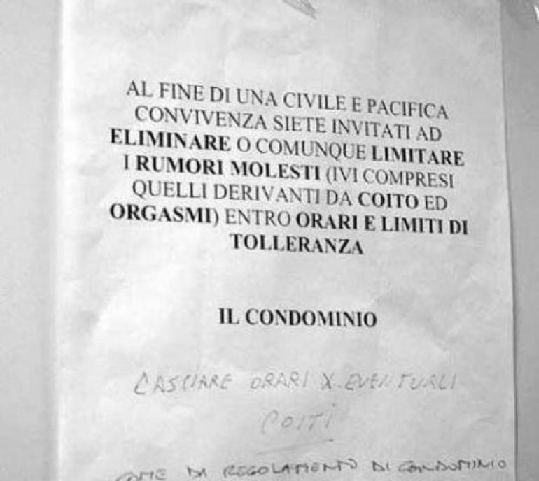 Regole del condominio rumori