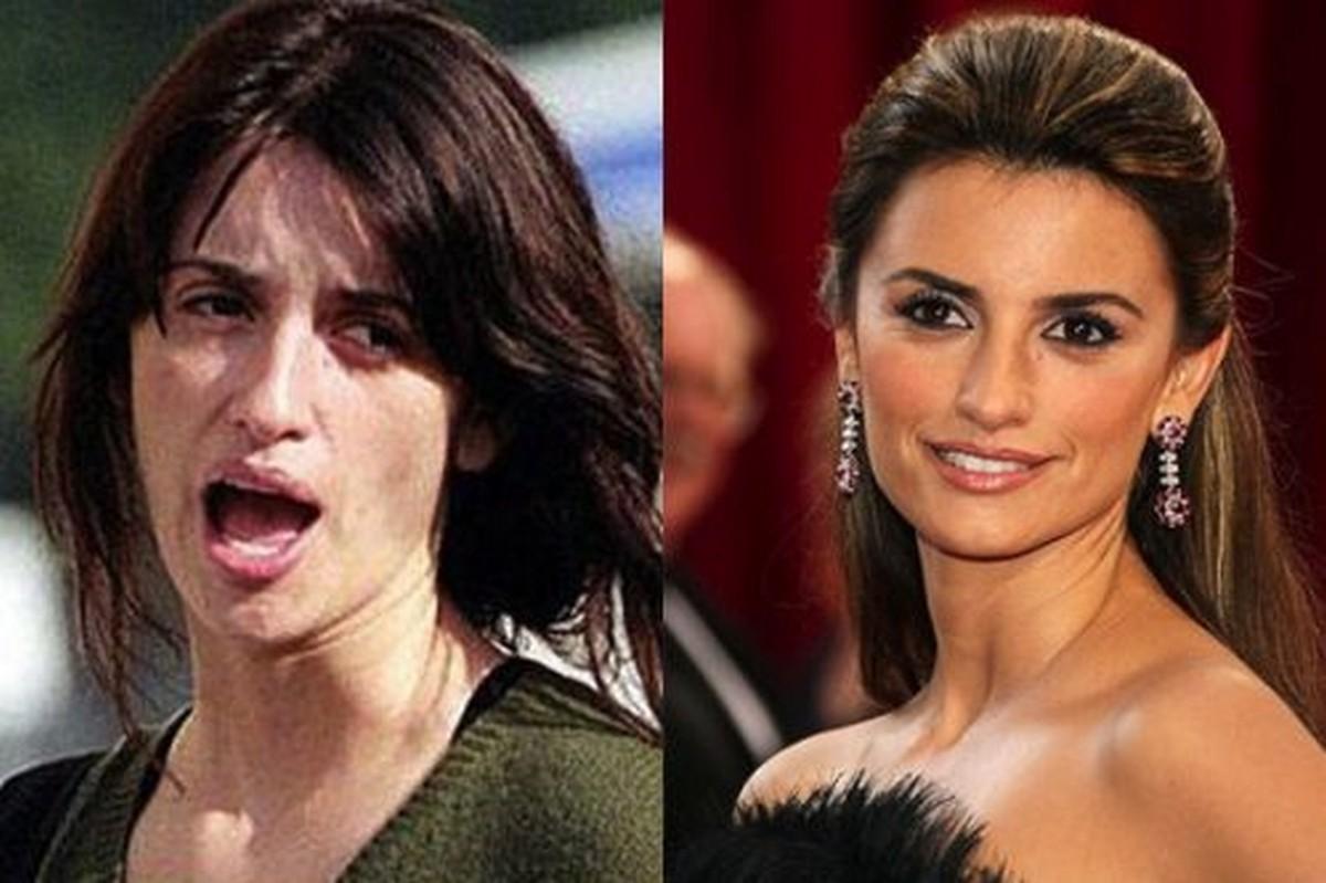 Le star prima e dopo il trucco | Foto 2 di 50 | Giornalettismo Penelope Cruz