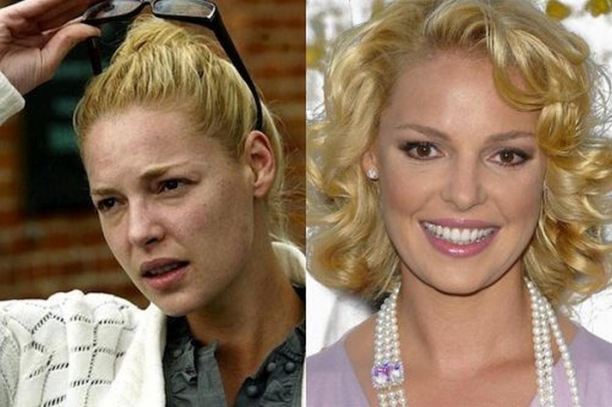 Le star prima e dopo il trucco | Foto 26 di 50 | Giornalettismo Katherine Heigl