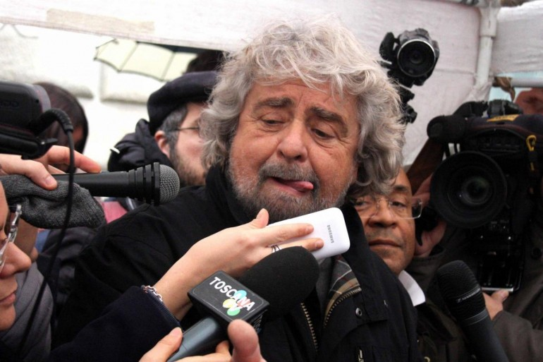 Beppe Grillo a Firenze per il 'Firm Day'