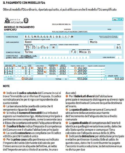 Dichiarazione imu 2012 come si calcola quali sono le for Calcola imposta di registro