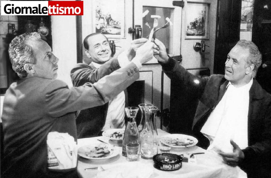 Tutte le frescacce di Berlusconi da Santoro
