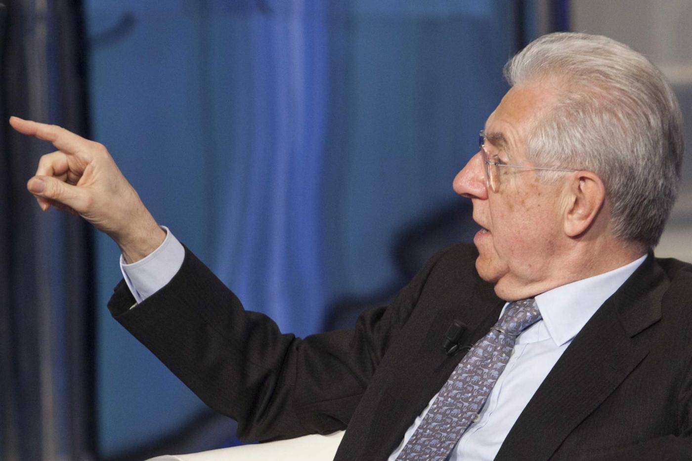 Mario Monti ospite a 'Porta a porta'