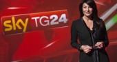 laria D'amico nello studio di Sky TG 24