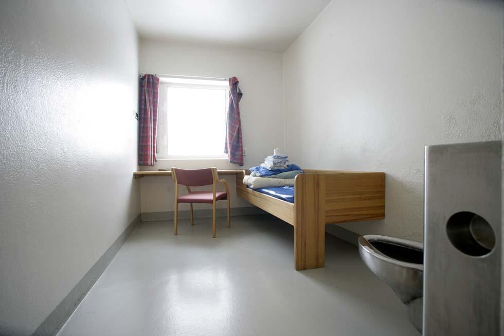Una delle celle del settore dove stanno i detenuti in isolamento come Breivik (Photo  read ROALD BERIT/AFP/Getty Images)