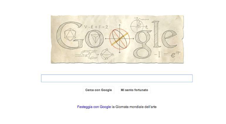 Il doodle per Leonhard Euler