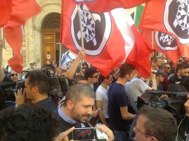 La manifestazione di Casapund