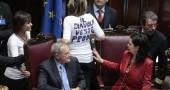La maglia anti-Prodi di Alessandra Mussolini