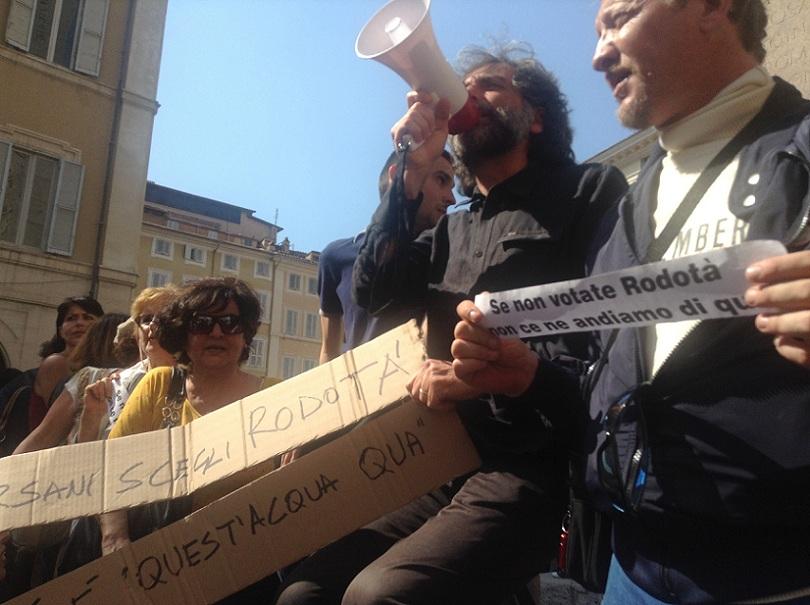 Le proteste anti-Prodi di Casapound