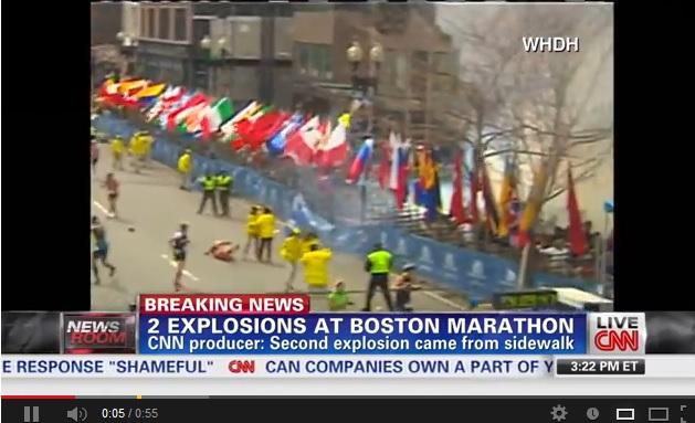 Il video delle esplosioni alla maratona di Boston