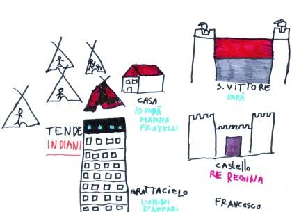 Un disegno realizzato da un bambino in carcere