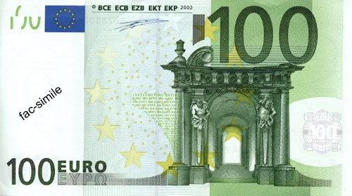 BANCONOTE 100 EURO FALSE