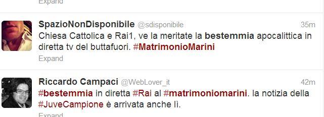 VALERIA MARINI MATRIMONIO BESTEMMIA 1