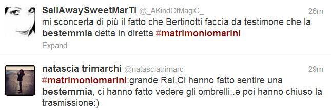 VALERIA MARINI MATRIMONIO BESTEMMIA