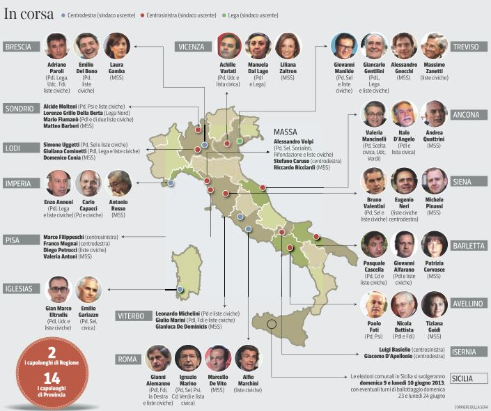 amministrative 2013 comuni
