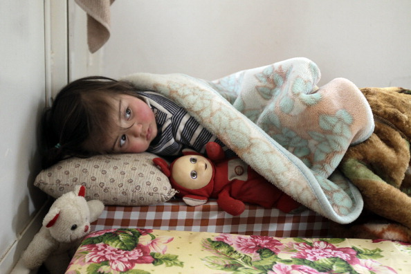 A Syrian girl who fled the violence in S