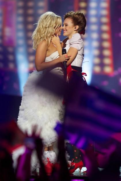 bacio lesbo eurovision song contest Krista Siegfrids