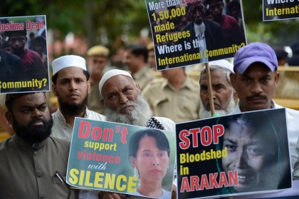 INDIA-MYANMAR-MUSLIMS-PROTEST
