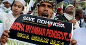 INDONESIA-MYANMAR-ATTACKS-POLICE-ARREST-DEMO