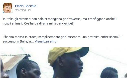 Mario Bocchio: il pidiellino e le bufale contro gli immigrati