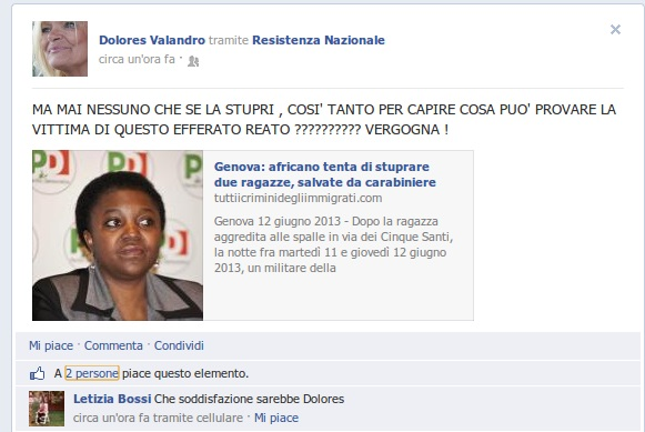 cecile kyenge dolores valandro
