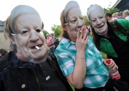 Demonstration gegen Rauchverbot
