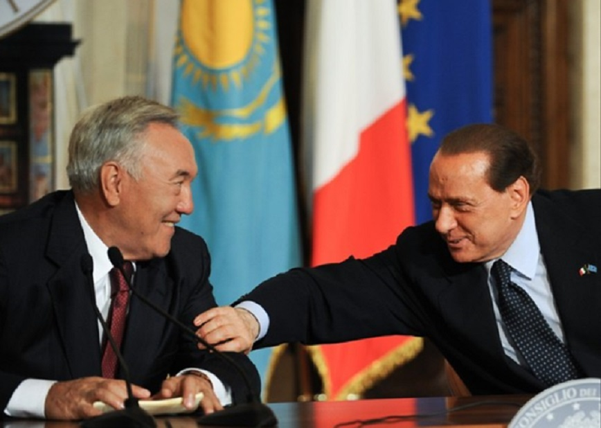 Silvio Berlusconi Nursultan Nazarbayev