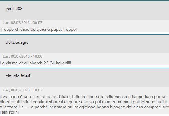 papa lampedusa lettori giornale 3