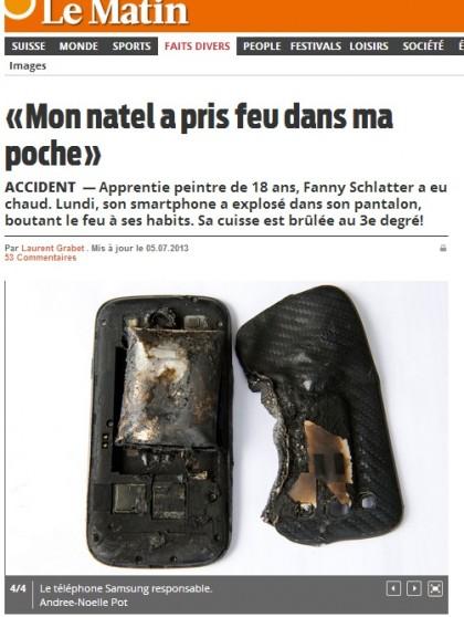 smartphone esplode in tasca 2