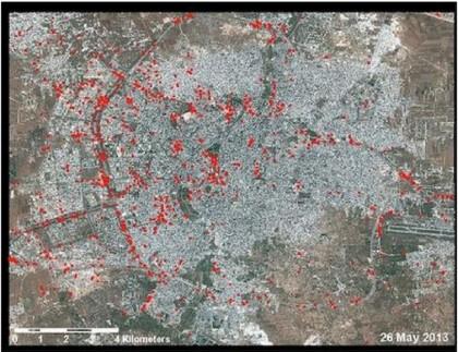 Assad Siria Guerra civile Aleppo immagini satellitari 5